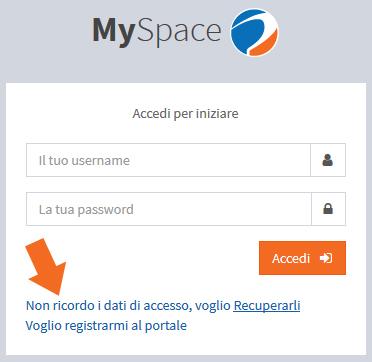 non ricordo dati accesso myspace interplanet